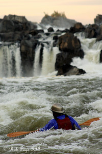 The kayaker enjoying the rapids below the Falls - Great Falls Park, VA ... October 26, 2009 ... Photo by Rob Page III