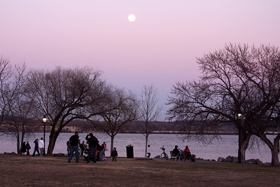 The moon rises above the Potomac on a February evening - Alexandria, VA ... February 8, 2009 ... Photo by Rob Page III