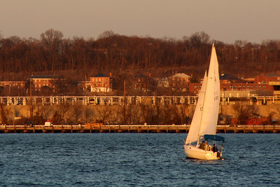 Out for an evening sail on the Potomac - Alexandria, VA ... February 9, 2009 ... Photo by Rob Page III