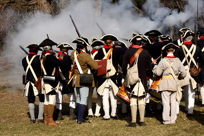 A volley is fired off - Alexandria, VA ... February 15, 2009 ... Photo by Rob Page III