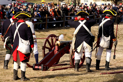 Lighting the cannon - Alexandria, VA ... February 15, 2009 ... Photo by Rob Page III