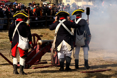 The cannon fires - Alexandria, VA ... February 15, 2009 ... Photo by Rob Page III