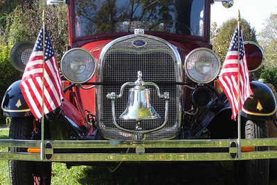 The grill of one of the old fashioned fire engines - Millwood, VA ... October 21, 2006 ... Photo by Rob Page III