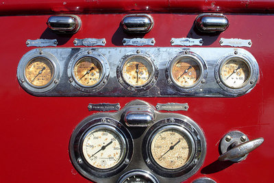 Old fire engine instruments - Millwood, VA ... October 21, 2006 ... Photo by Rob Page III