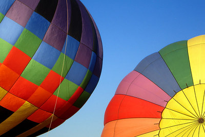 Hot air balloons getting ready to depart - Millwood, VA ... October 21, 2006 ... Photo by Rob Page III