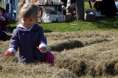 A little girl playing in the hay - Millwood, VA ... October 21, 2006 ... Photo by Rob Page III