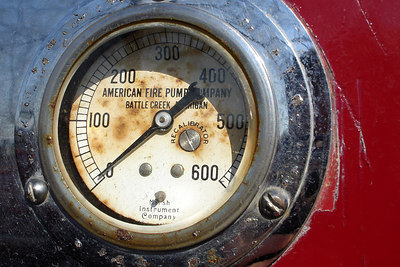 A fire engine gauge - Millwood, VA ... October 21, 2006 ... Photo by Rob Page III