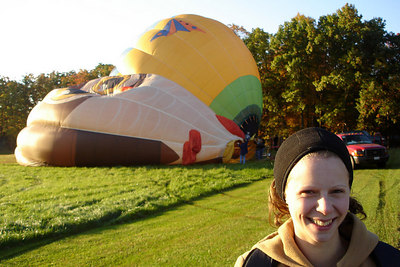 Emily and the hot air balloons - Millwood, VA ... October 21, 2006 ... Photo by Rob Page III