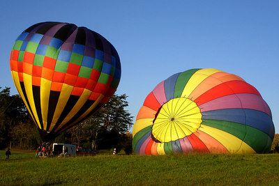 Hot air balloons getting ready to take off - Millwood, VA ... October 21, 2006 ... Photo by Rob Page III