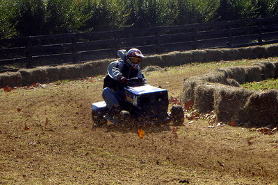 The lawnmower races at the Shenandoah Hot Air Balloon and Wine Festival - Millwood, VA ... October 21, 2006 ... Photo by Rob Page III