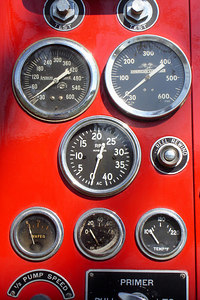 Some of the fire engine instruments - Millwood, VA ... October 21, 2006 ... Photo by Rob Page III