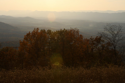 The sun sets over the mountains - Shenandoah NP, VA ... November 1, 2008 ... Photo by Rob Page III