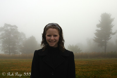 Emily's ready to enjoy a cold, foggy day - Shenandoah NP, VA ... October 17, 2009 ... Photo by Rob Page III