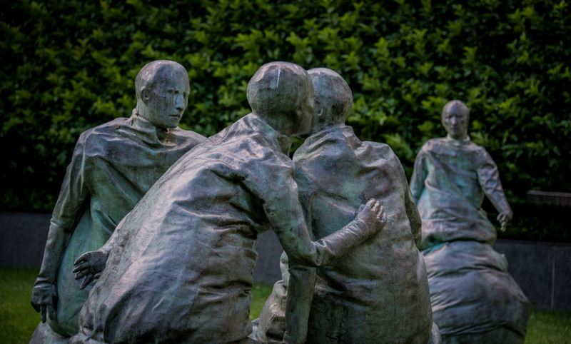 Last Conversation Piece - Juan Munoz, Hirshhorn Sculpture Garden, Washington, DC