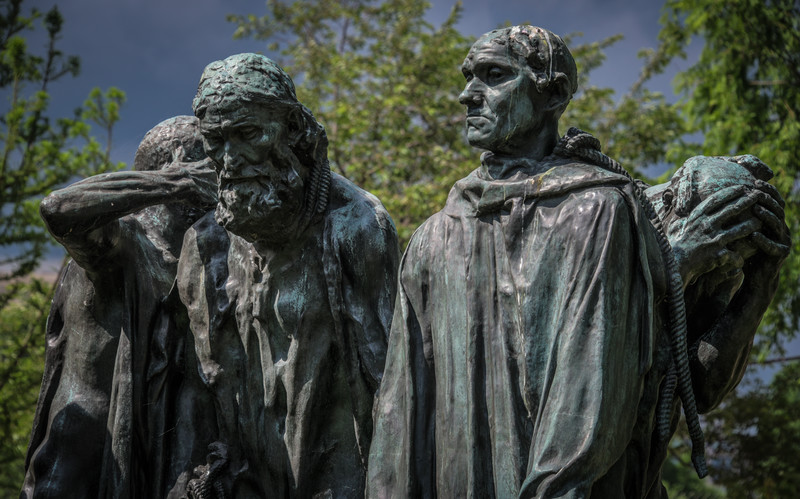 The Burghers Of Calais, August Rodin - Bronze - Hirshhorn Sculpture Garden, Washington, DC