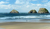 Seastacks and beach
