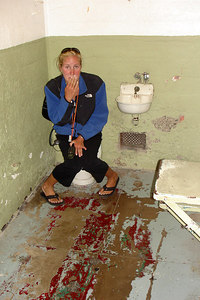 Heather got in trouble at Alcatraz - San Francisco, CA ... July 31, 2006 ... Photo by Rob Page III