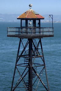 The guardtower on Alcatraz - San Francisco, CA ... July 31, 2006 ... Photo by Rob Page III