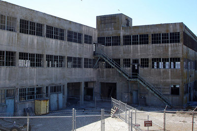 One of the old buildings on Alcatraz - San Francisco, CA ... July 31, 2006 ... Photo by Rob Page III