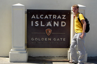 Rob, chilling on Alcatraz - San Francisco, CA ... July 31, 2006 ... Photo by Heather L. Page