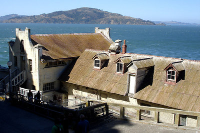 The old guardhouse and chapel on Alcatraz - San Francisco, CA ... July 31, 2006 ... Photo by Rob Page III