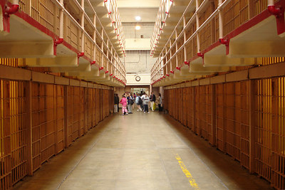 Looking down 'Broadway' in Alcatraz - San Francisco, CA ... July 31, 2006 ... Photo by Rob Page III