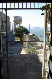 Looking out from the prison - San Francisco, CA ... July 31, 2006 ... Photo by Rob Page III