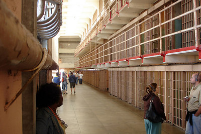 Down the corridors of Alcatraz - San Francisco, CA ... July 31, 2006 ... Photo by Rob Page III
