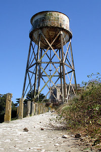 The water tower on Alcatraz - San Francisco, CA ... July 31, 2006 ... Photo by Rob Page III