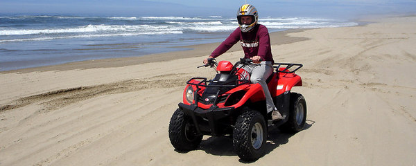 Rob on his ATV - Oregon Sand Dunes National Recreation Area, OR ... July 29, 2006 ... Photo by Bob Page, Jr.