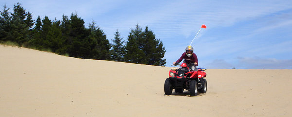 Rob, enjoying the sand - Oregon Sand Dunes National Recreation Area, OR ... July 29, 2006 ... Photo by Bob Page, Jr.