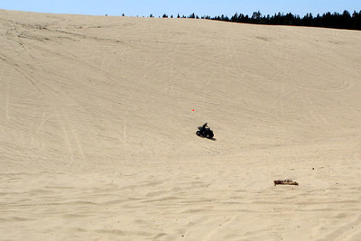Heather, having fun on the dunes - Oregon Sand Dunes National Recreation Area, OR ... July 29, 2006 ... Photo by Bob Page, Jr.