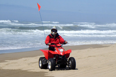 Dad on the beach - Oregon Sand Dunes National Recreation Area, OR ... July 29, 2006 ... Photo by Rob Page III