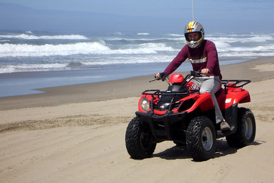 Rob, on his ATV - Oregon Sand Dunes National Recreation Area, OR ... July 29, 2006 ... Photo by Bob Page, Jr.