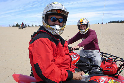 Dad and Rob - Oregon Sand Dunes National Recreation Area, OR ... July 29, 2006 ... Photo by Heather Page