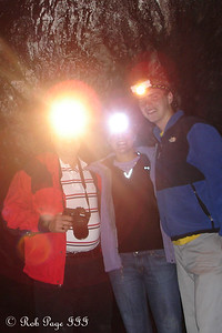 Hanging out in the Ape Caves (lava tubes) near Mount St. Helens - Mount St. Helens National Volcanic Monument, WA ... July 27, 2006 ... Photo by Rob Page III