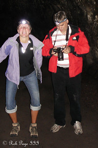 Goofing off in the Ape Caves - Mount St. Helens National Volcanic Monument, WA ... July 27, 2006 ... Photo by Rob Page III