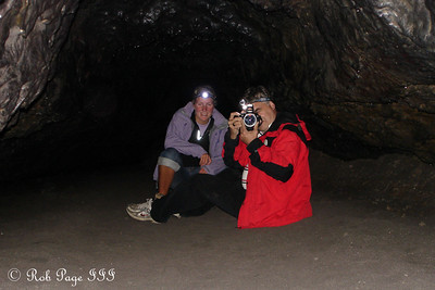 Heather and Dad in the Ape Caves - Mount St. Helens National Volcanic Monument, WA ... July 27, 2006 ... Photo by Rob Page III