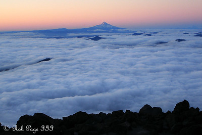 Mt. Hood at Sunrise - Mount St. Helens National Volcanic Monument, WA ... July 28, 2006 ... Photo by Rob Page III