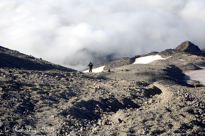 Heather, on her way down the mountain - Mount St. Helens National Volcanic Monument, WA ... July 28, 2006 ... Photo by Rob Page III