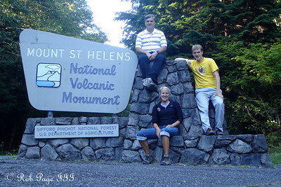 Dad, Heather, and Rob - Mount St. Helens National Volcanic Monument, WA ... July 27, 2006 ... Photo by Rob Page III