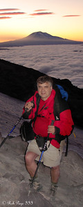 Dad and Mt. Adams at Sunrise - Mount St. Helens National Volcanic Monument, WA ... July 28, 2006 ... Photo by Rob Page III