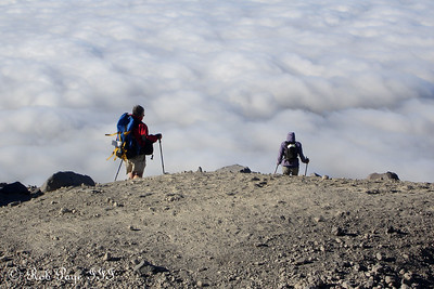 Descending - Mount St. Helens National Volcanic Monument, WA ... July 28, 2006 ... Photo by Rob Page III