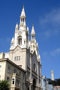 St Peter &Paul Church and Coit Tower - San Francisco, CA ... July 26, 2006 ... Photo by Rob Page III