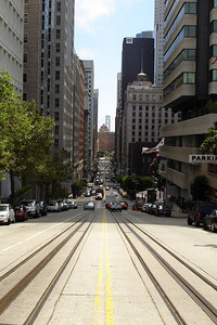 Looking down California Ave towards downtown - San Francisco, CA ... July 26, 2006 ... Photo by Rob Page III