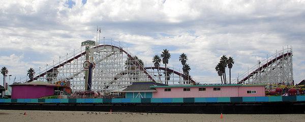 The coaster at the Santa Cruz boardwalk - Santa Cruz, CA ... July 30, 2006 ... Photo by Rob Page III