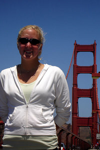 Heather, on the Golden Gate Bridge - San Francisco, CA ... July 31, 2006 ... Photo by Rob Page III