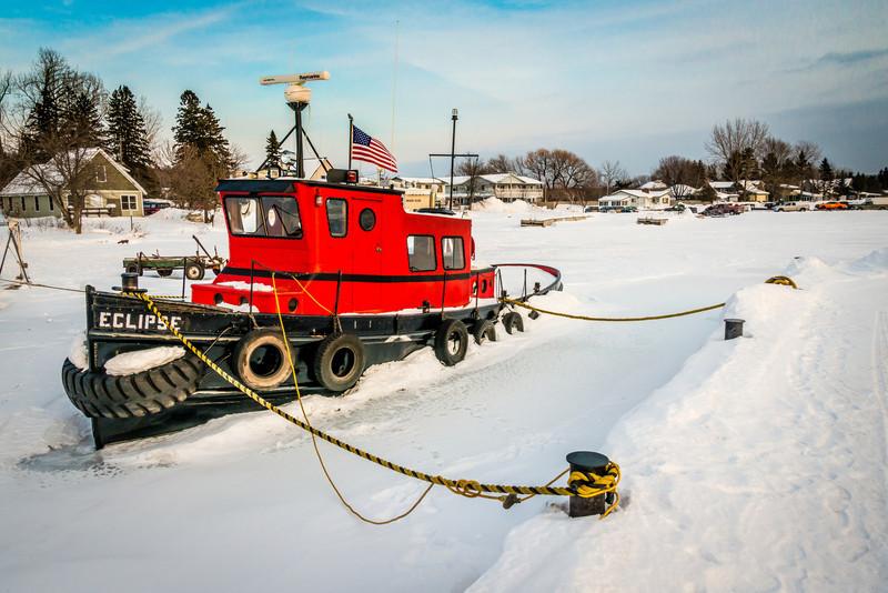 Iced In - Madeline Island Harbor - 2014