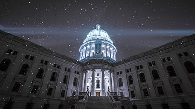 Snowy Night at the Capitol