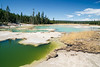 Yellowstone, Landscape - Colorful green and blue thermal pools
